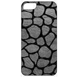 SKIN1 BLACK MARBLE & GRAY LEATHER Apple iPhone 5 Classic Hardshell Case