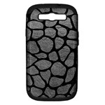SKIN1 BLACK MARBLE & GRAY LEATHER Samsung Galaxy S III Hardshell Case (PC+Silicone)