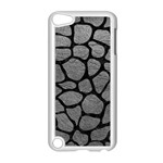 SKIN1 BLACK MARBLE & GRAY LEATHER Apple iPod Touch 5 Case (White)