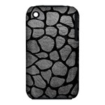 SKIN1 BLACK MARBLE & GRAY LEATHER iPhone 3S/3GS