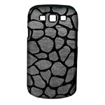 SKIN1 BLACK MARBLE & GRAY LEATHER Samsung Galaxy S III Classic Hardshell Case (PC+Silicone)