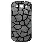 SKIN1 BLACK MARBLE & GRAY LEATHER Samsung Galaxy S3 S III Classic Hardshell Back Case