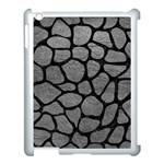 SKIN1 BLACK MARBLE & GRAY LEATHER Apple iPad 3/4 Case (White)