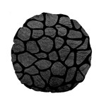 SKIN1 BLACK MARBLE & GRAY LEATHER Standard 15  Premium Round Cushions