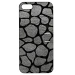 SKIN1 BLACK MARBLE & GRAY LEATHER Apple iPhone 5 Hardshell Case with Stand