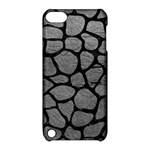 SKIN1 BLACK MARBLE & GRAY LEATHER Apple iPod Touch 5 Hardshell Case with Stand