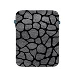 SKIN1 BLACK MARBLE & GRAY LEATHER Apple iPad 2/3/4 Protective Soft Cases