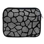 SKIN1 BLACK MARBLE & GRAY LEATHER Apple iPad 2/3/4 Zipper Cases
