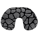 SKIN1 BLACK MARBLE & GRAY LEATHER Travel Neck Pillows
