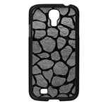SKIN1 BLACK MARBLE & GRAY LEATHER Samsung Galaxy S4 I9500/ I9505 Case (Black)