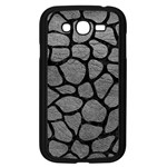 SKIN1 BLACK MARBLE & GRAY LEATHER Samsung Galaxy Grand DUOS I9082 Case (Black)