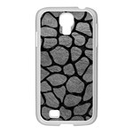 SKIN1 BLACK MARBLE & GRAY LEATHER Samsung GALAXY S4 I9500/ I9505 Case (White)