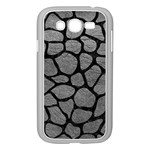 SKIN1 BLACK MARBLE & GRAY LEATHER Samsung Galaxy Grand DUOS I9082 Case (White)