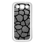SKIN1 BLACK MARBLE & GRAY LEATHER Samsung Galaxy S3 Back Case (White)