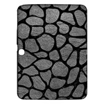 SKIN1 BLACK MARBLE & GRAY LEATHER Samsung Galaxy Tab 3 (10.1 ) P5200 Hardshell Case