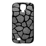 SKIN1 BLACK MARBLE & GRAY LEATHER Samsung Galaxy S4 Classic Hardshell Case (PC+Silicone)