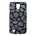 SKIN1 BLACK MARBLE & GRAY LEATHER Galaxy S4 Active