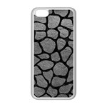 SKIN1 BLACK MARBLE & GRAY LEATHER Apple iPhone 5C Seamless Case (White)