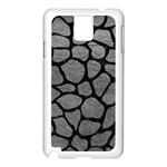 SKIN1 BLACK MARBLE & GRAY LEATHER Samsung Galaxy Note 3 N9005 Case (White)