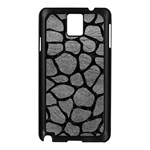 SKIN1 BLACK MARBLE & GRAY LEATHER Samsung Galaxy Note 3 N9005 Case (Black)