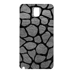 SKIN1 BLACK MARBLE & GRAY LEATHER Samsung Galaxy Note 3 N9005 Hardshell Back Case