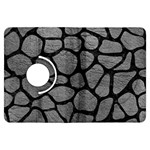 SKIN1 BLACK MARBLE & GRAY LEATHER Kindle Fire HDX Flip 360 Case