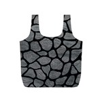 SKIN1 BLACK MARBLE & GRAY LEATHER Full Print Recycle Bags (S)