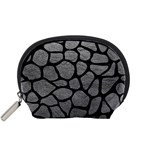 SKIN1 BLACK MARBLE & GRAY LEATHER Accessory Pouches (Small)