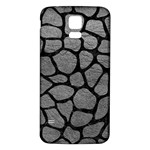 SKIN1 BLACK MARBLE & GRAY LEATHER Samsung Galaxy S5 Back Case (White)