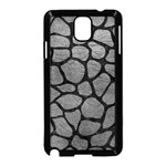 SKIN1 BLACK MARBLE & GRAY LEATHER Samsung Galaxy Note 3 Neo Hardshell Case (Black)