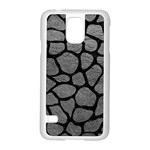 SKIN1 BLACK MARBLE & GRAY LEATHER Samsung Galaxy S5 Case (White)