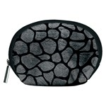 SKIN1 BLACK MARBLE & GRAY LEATHER Accessory Pouches (Medium)