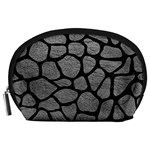 SKIN1 BLACK MARBLE & GRAY LEATHER Accessory Pouches (Large)