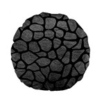 SKIN1 BLACK MARBLE & GRAY LEATHER Standard 15  Premium Flano Round Cushions