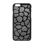 SKIN1 BLACK MARBLE & GRAY LEATHER Apple iPhone 6/6S Black Enamel Case