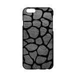 SKIN1 BLACK MARBLE & GRAY LEATHER Apple iPhone 6/6S Hardshell Case
