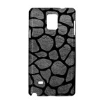SKIN1 BLACK MARBLE & GRAY LEATHER Samsung Galaxy Note 4 Hardshell Case