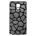 SKIN1 BLACK MARBLE & GRAY LEATHER Galaxy Note 4 Back Case