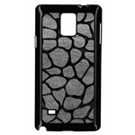 SKIN1 BLACK MARBLE & GRAY LEATHER Samsung Galaxy Note 4 Case (Black)
