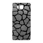 SKIN1 BLACK MARBLE & GRAY LEATHER Samsung Galaxy Alpha Hardshell Back Case