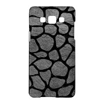 SKIN1 BLACK MARBLE & GRAY LEATHER Samsung Galaxy A5 Hardshell Case