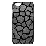 SKIN1 BLACK MARBLE & GRAY LEATHER iPhone 6 Plus/6S Plus TPU Case