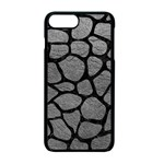 SKIN1 BLACK MARBLE & GRAY LEATHER Apple iPhone 7 Plus Seamless Case (Black)