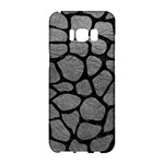SKIN1 BLACK MARBLE & GRAY LEATHER Samsung Galaxy S8 Hardshell Case