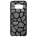 SKIN1 BLACK MARBLE & GRAY LEATHER Samsung Galaxy S8 Black Seamless Case