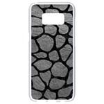 SKIN1 BLACK MARBLE & GRAY LEATHER Samsung Galaxy S8 White Seamless Case