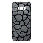 SKIN1 BLACK MARBLE & GRAY LEATHER Samsung Galaxy S8 Plus Hardshell Case