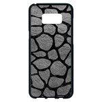 SKIN1 BLACK MARBLE & GRAY LEATHER Samsung Galaxy S8 Plus Black Seamless Case