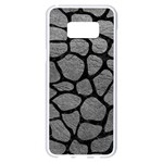 SKIN1 BLACK MARBLE & GRAY LEATHER Samsung Galaxy S8 Plus White Seamless Case