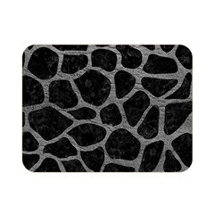 Skin1 Black Marble & Gray Leather (r) Double Sided Flano Blanket (mini)  by trendistuff